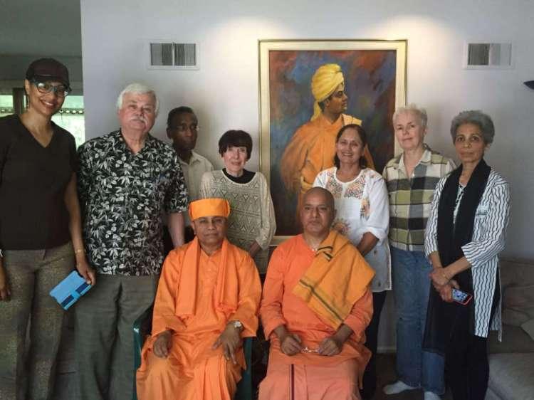 """Vedanta Society of Kansas City - Swami Chandrashekharananda ji (Vedanta Society, Portland) conducted a Mini-Retreat on September 15th and gave a talk on Sunday, September 16th on """"Dexterity in Action is Yoga""""."""